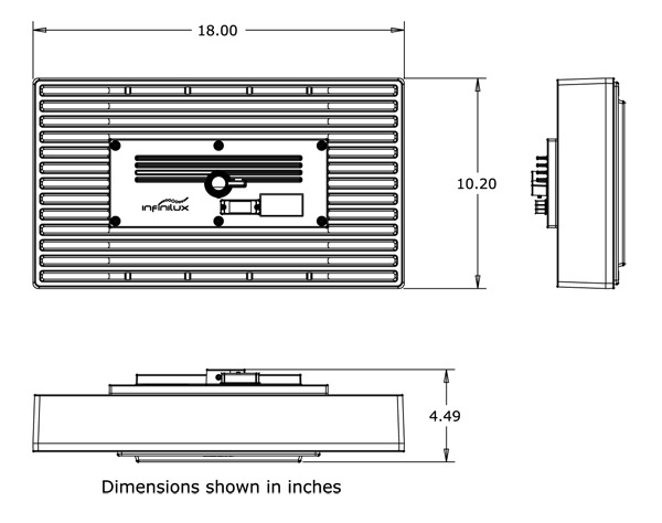 Low Bay dimensions spec